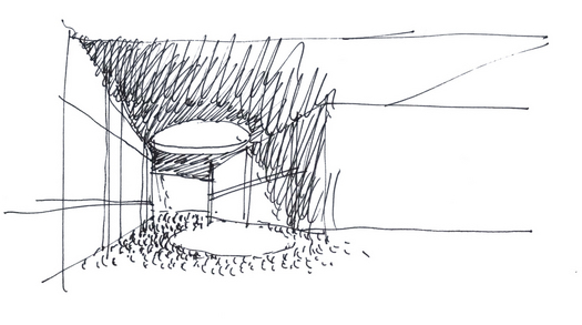 The kite hole, sketch © C+S Architects