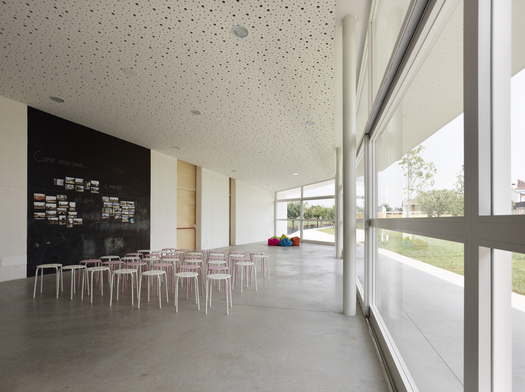 The interior. Photo by Pietro Savorelli