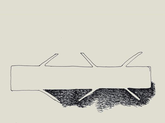 Sketch of the @home table. © C+S architects