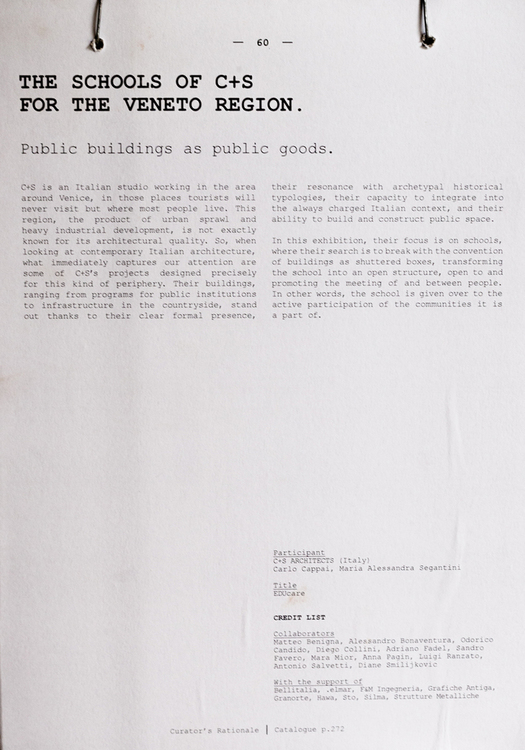 Biennale caption by the curator Alejandro Aravena